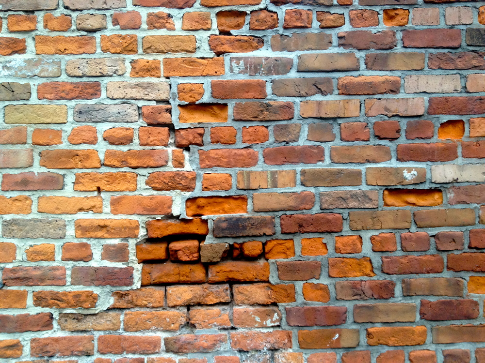 Layers of bricks.