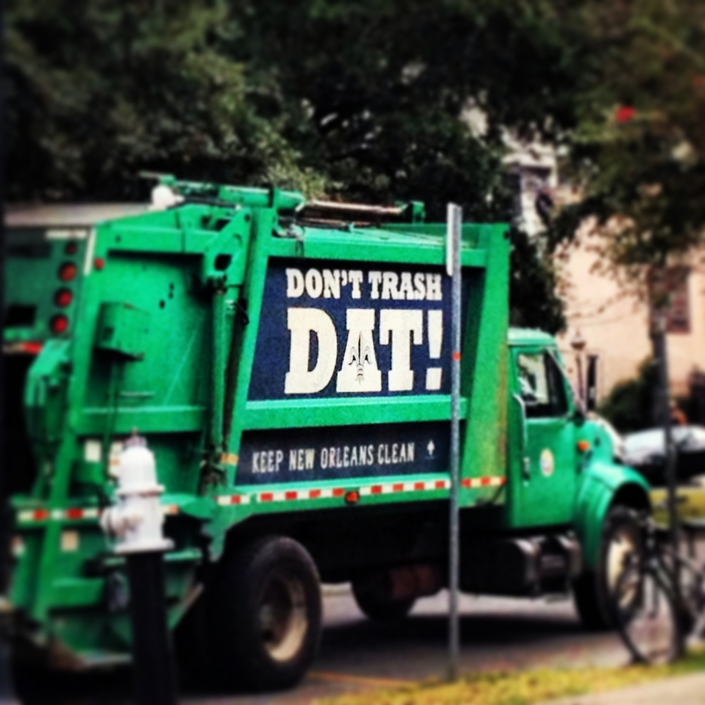 Best garbage truck slogan I've ever seen.