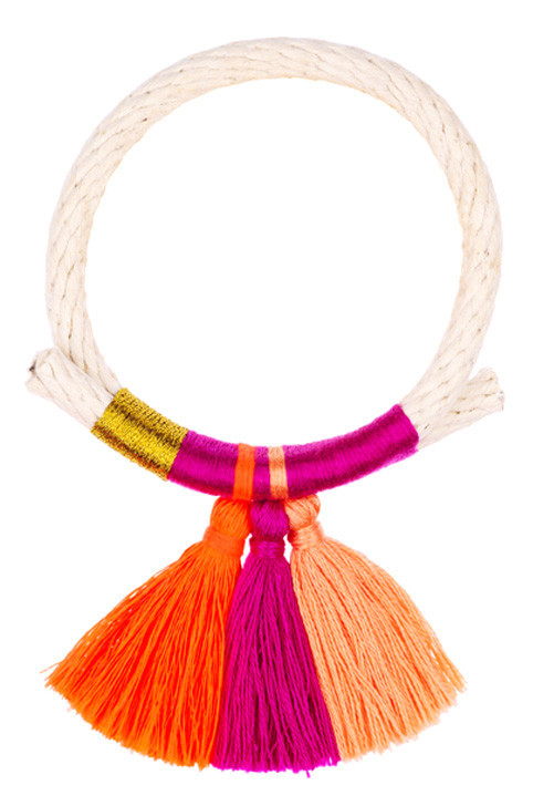Krysos + Chandi tassel bracelet handmade in New York City