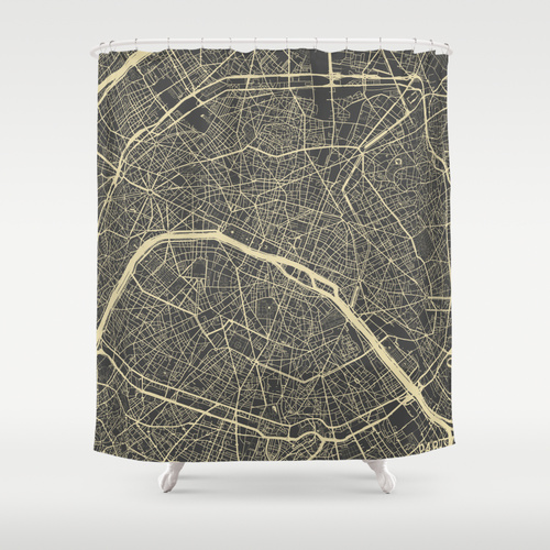 Map Map Maps for Society 6  shower curtain , $68