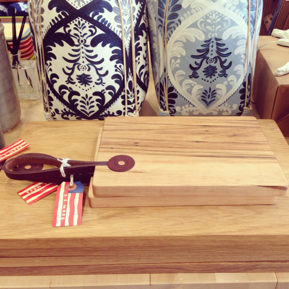 Cutting boards by  Lostine , made in Pennsylvania.