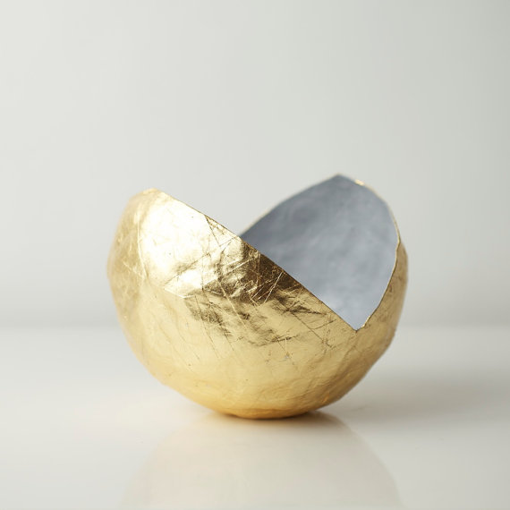 "5"" diameter  gold point vessel , $68 (also available in white)"
