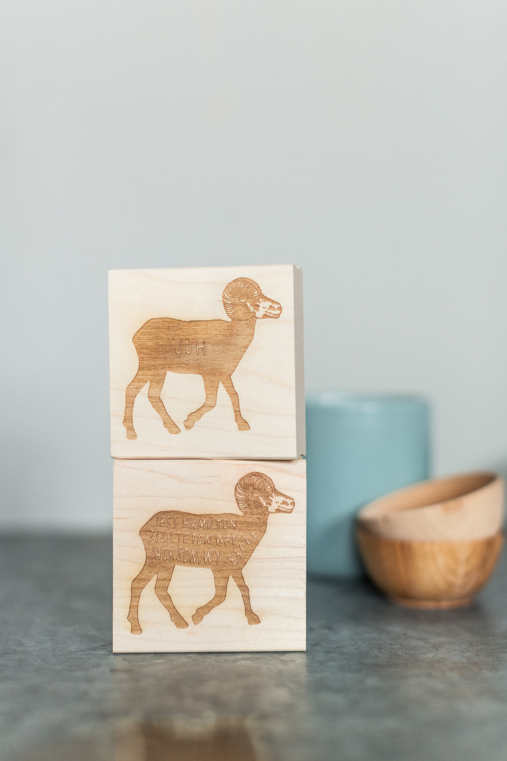 New custom monogram and address animal stamps just launched this week on SSP!