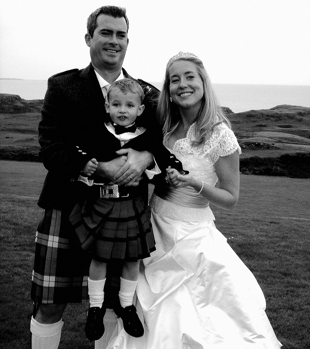 Katherine and Mac at their nuptials in Scotland...