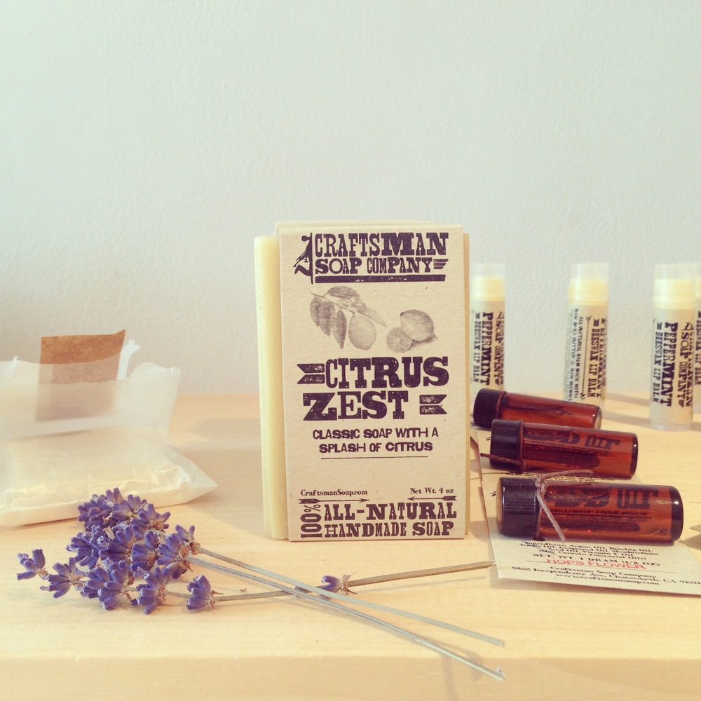 Craftsman Soap Co. products available at Reservoir & Wood in Beacon, NY