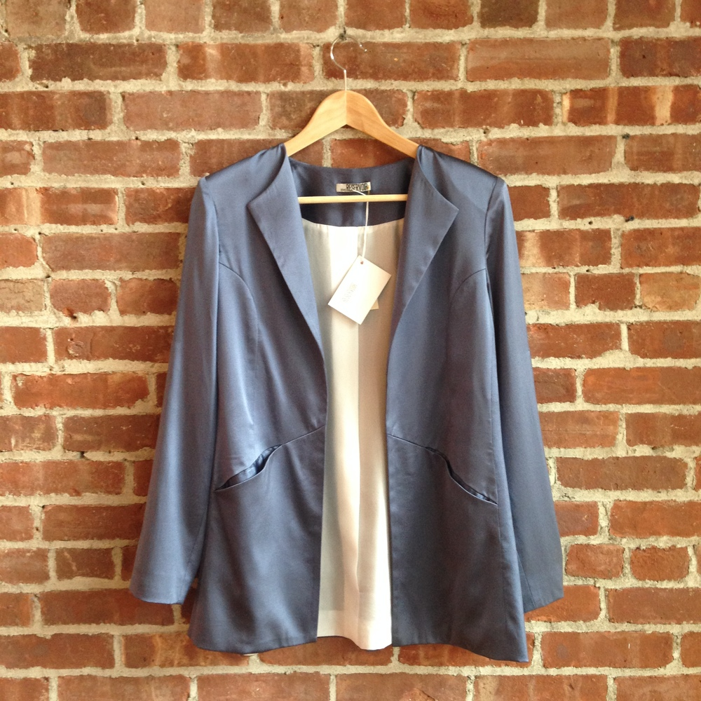 A jacket from Erin's {EM} Reservoir collection, available at R&W.