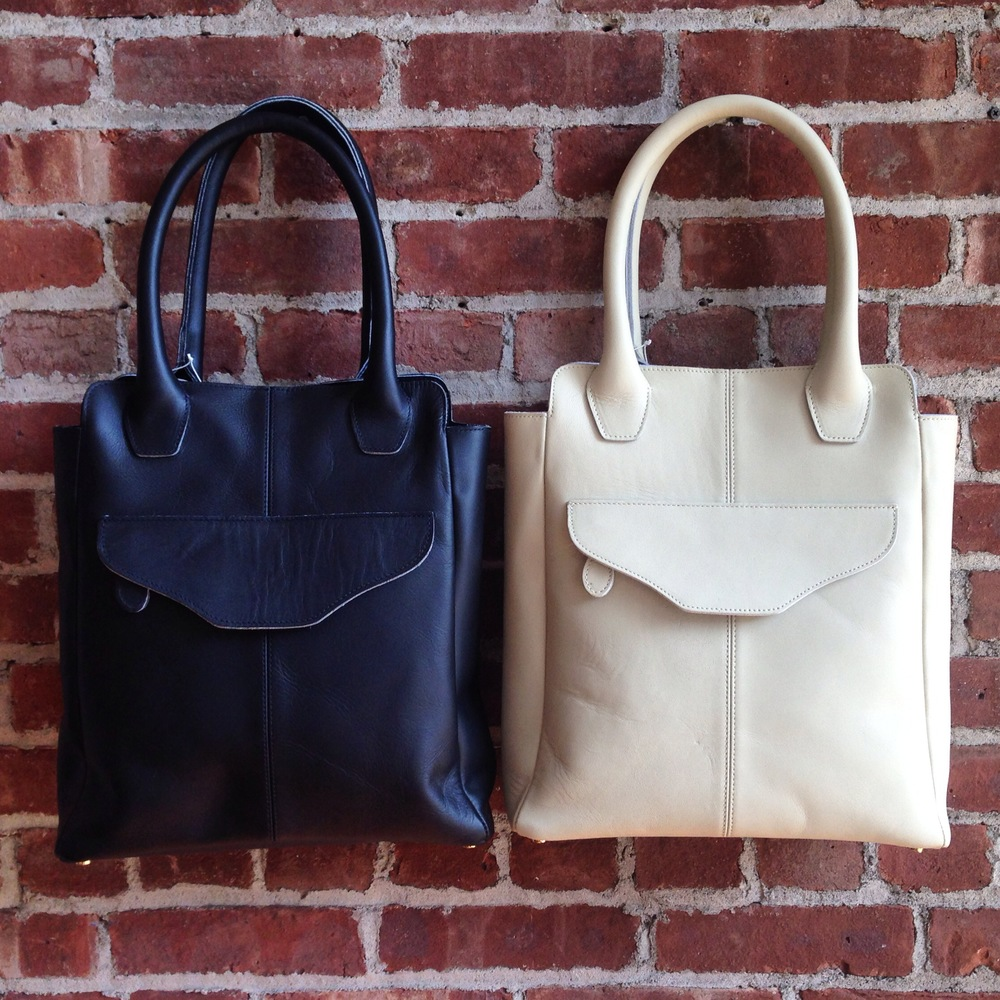 Leather handbags by Brooklyn-based Shana Luther
