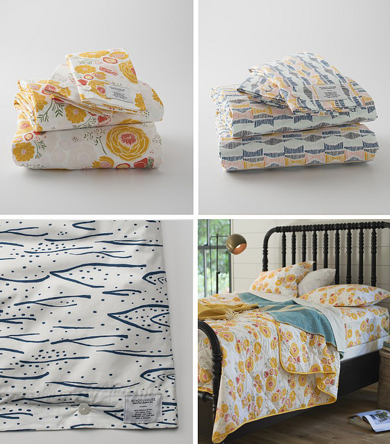 Leah's 2013 bedding collection for Schoolhouse Electric can be purchased  here .