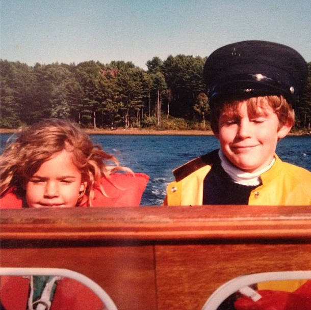 Ted and his sister Madeleine on the York River circa 1990