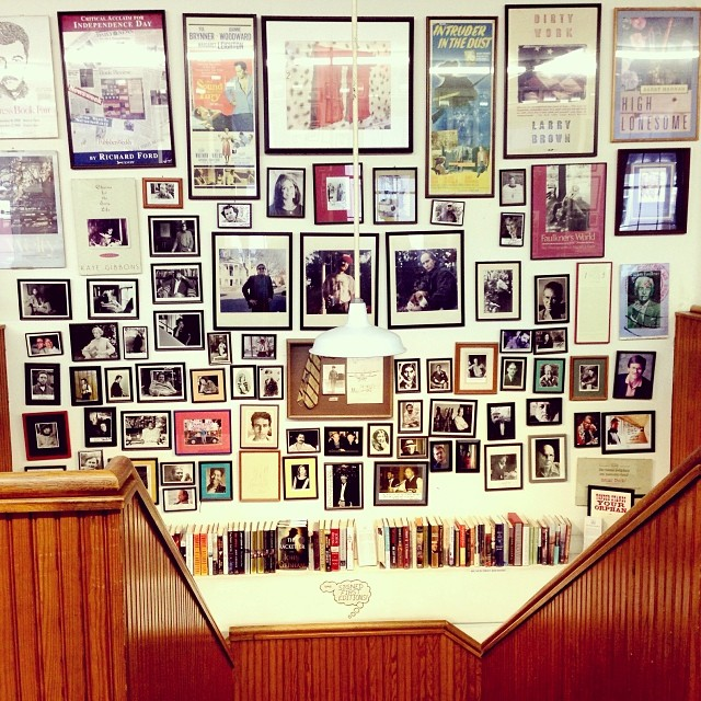 Wall of Writers at Square Books, one of the country's best book stores