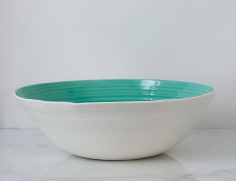 Serving bowl in aqua,  $114