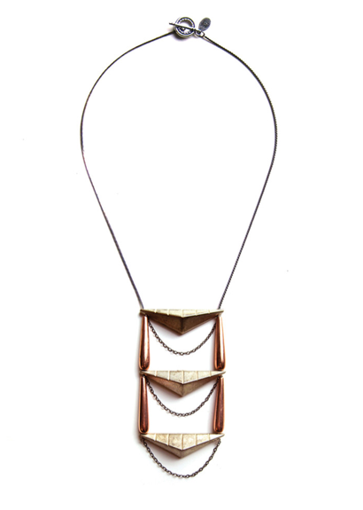 Dirty Librarian Chains  wood necklace , $145