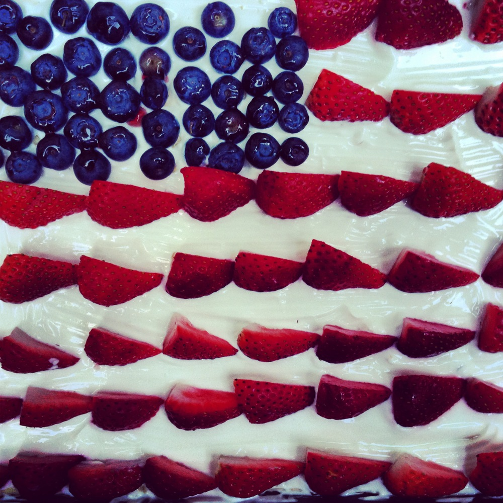 My aunt's patriotic cheesecake