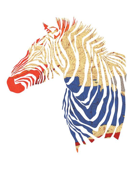 Antler Hill zebra silhouette here