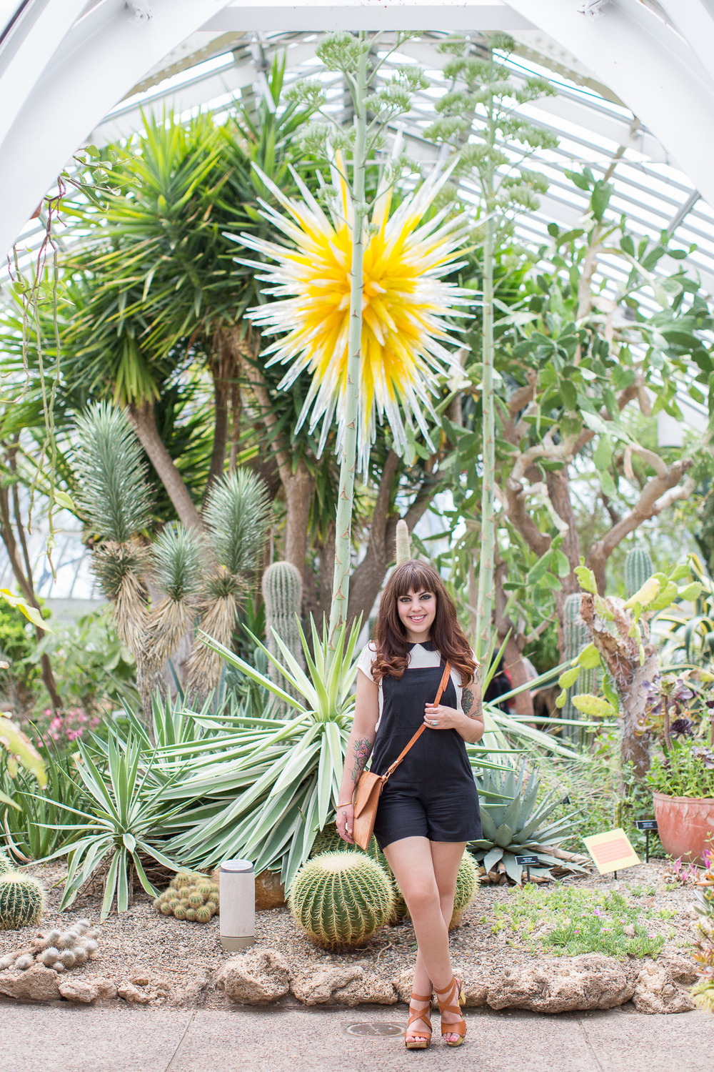Emily Slagel photographed by Laila Archuleta in the Desert Room at Phipps Conservatory