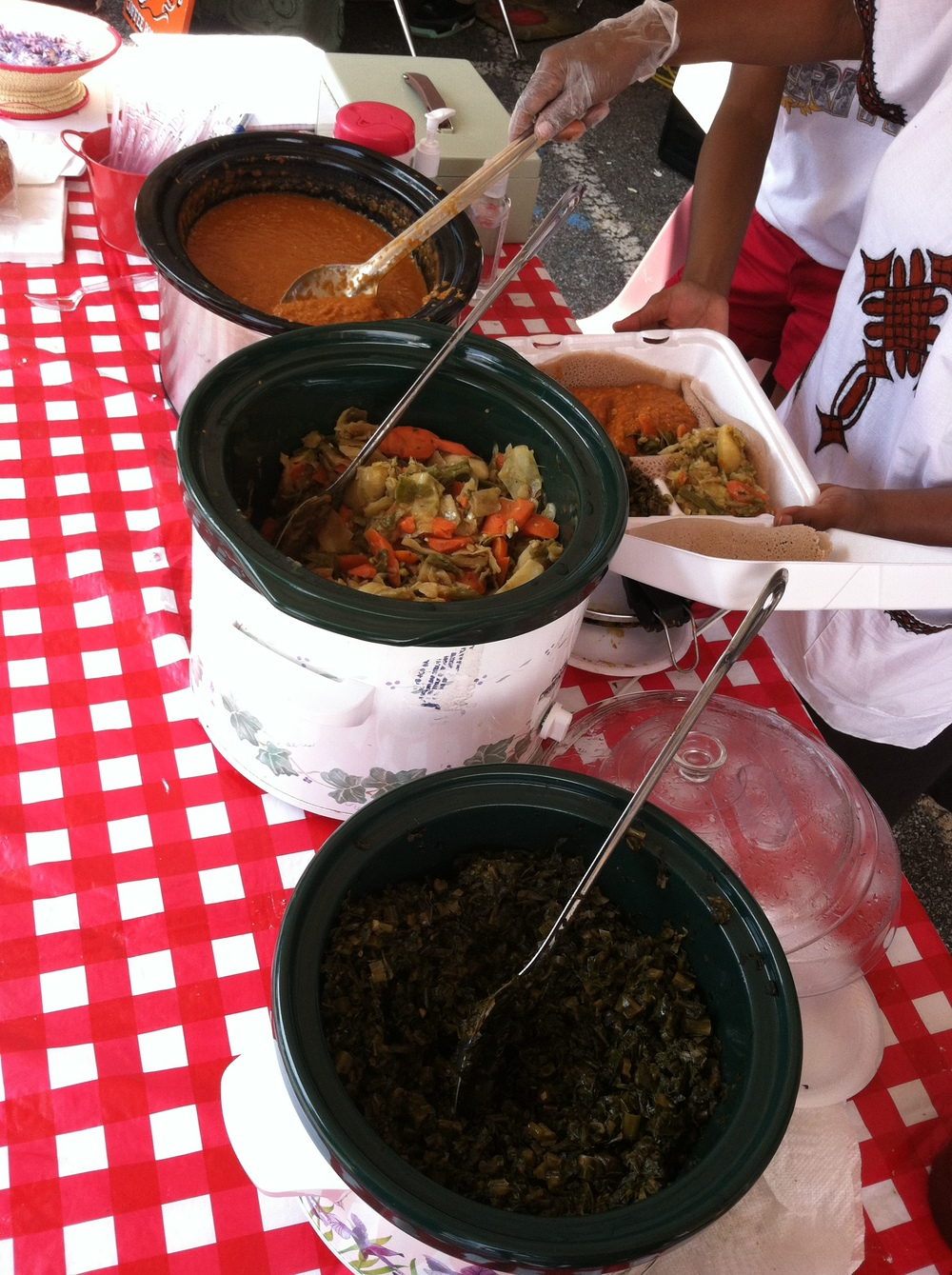 Photo of homemade Ethiopian food at West Broad Market by Josh Skinner