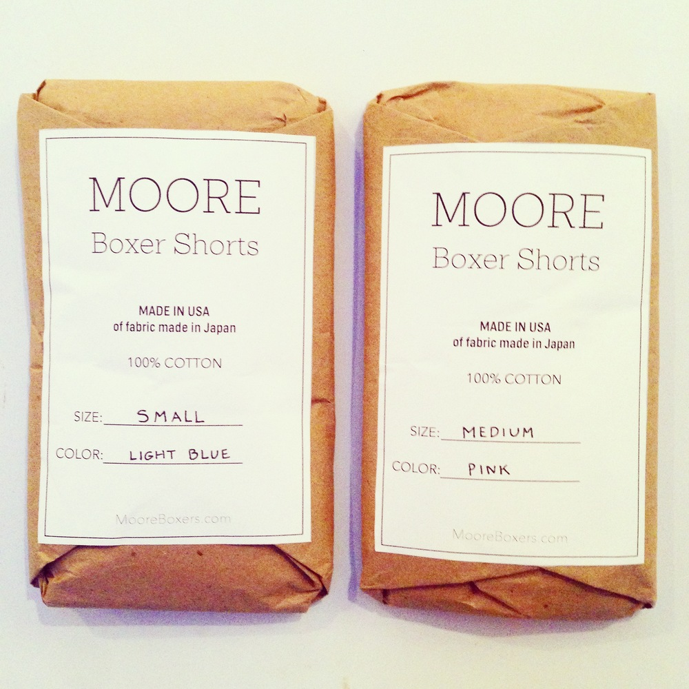 Moore Boxer Shorts packaging