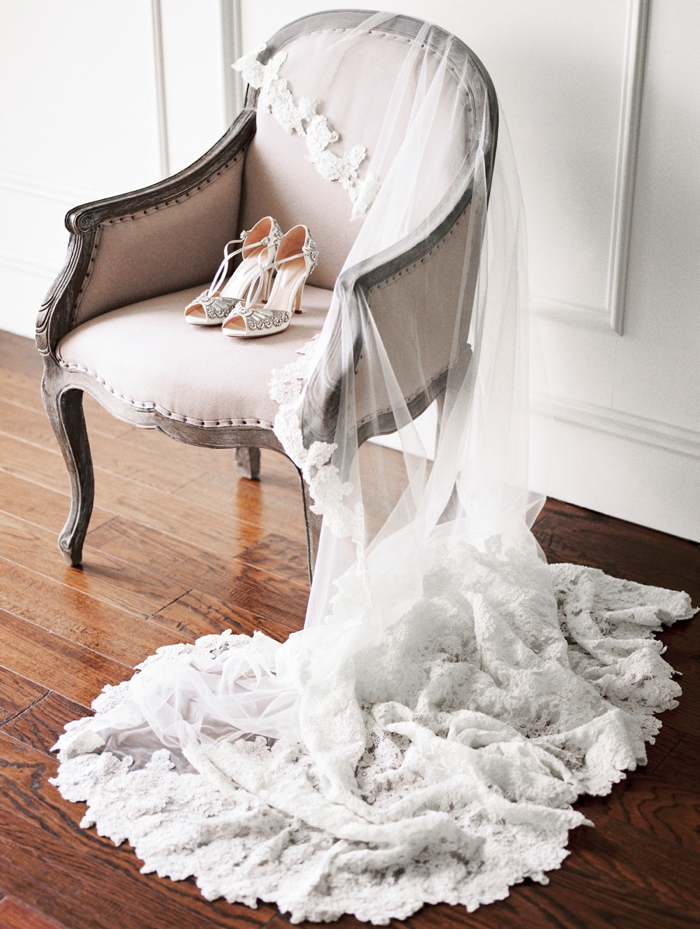 Veil - Winnie Couture  | The Coralie Chair -  Propmaker Event Rentals  | Shoes -  Emmy London