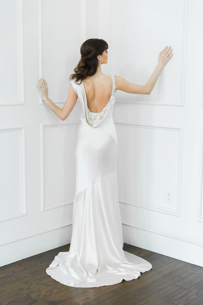 Casablanca Gown & Earrings - Bridal Boutique   | Ring - Avior Jewelry