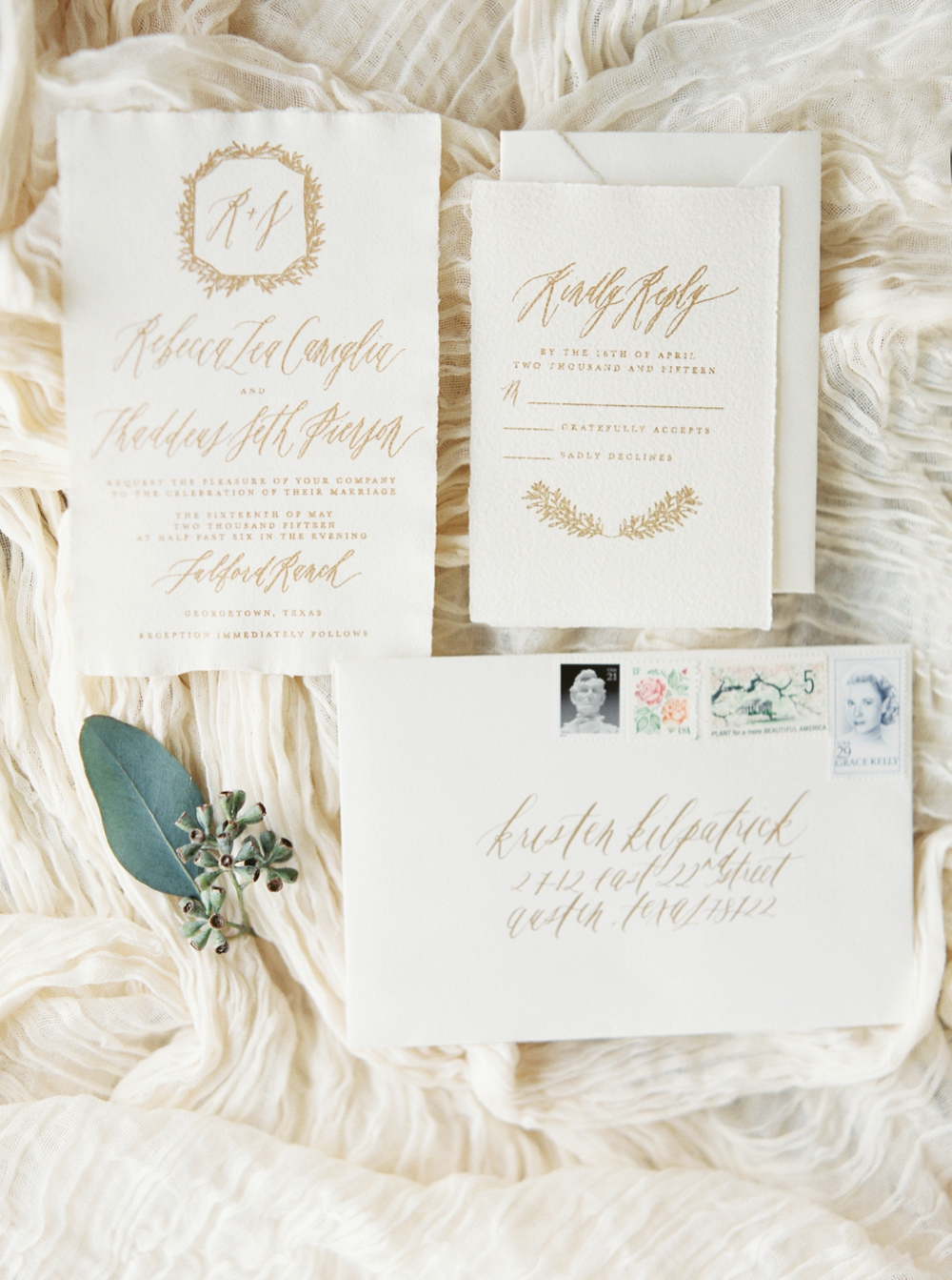 Written Word Calligraphy Invitation Suite