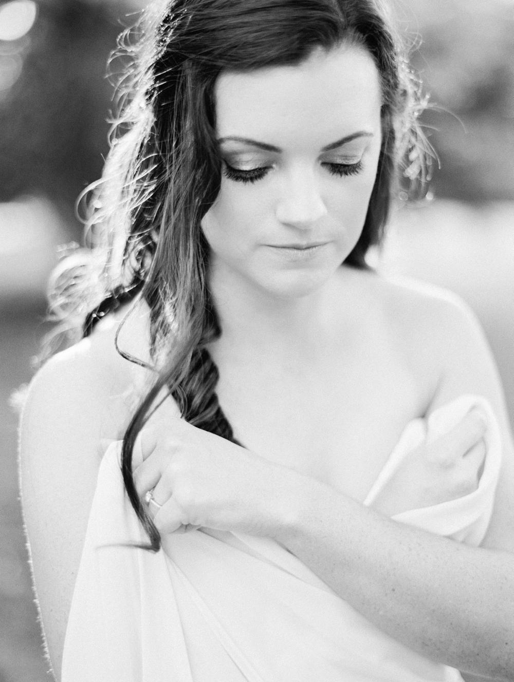 Black and White Film Bridal Session