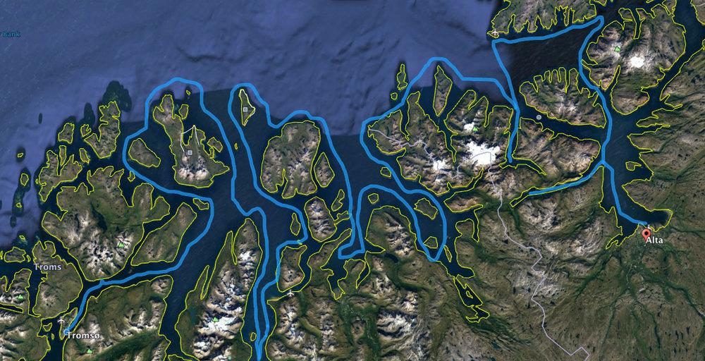 Примерен машрут на плаването ни - финалният ще бъде решен според най-интересните места за снимане и атмосферните условия