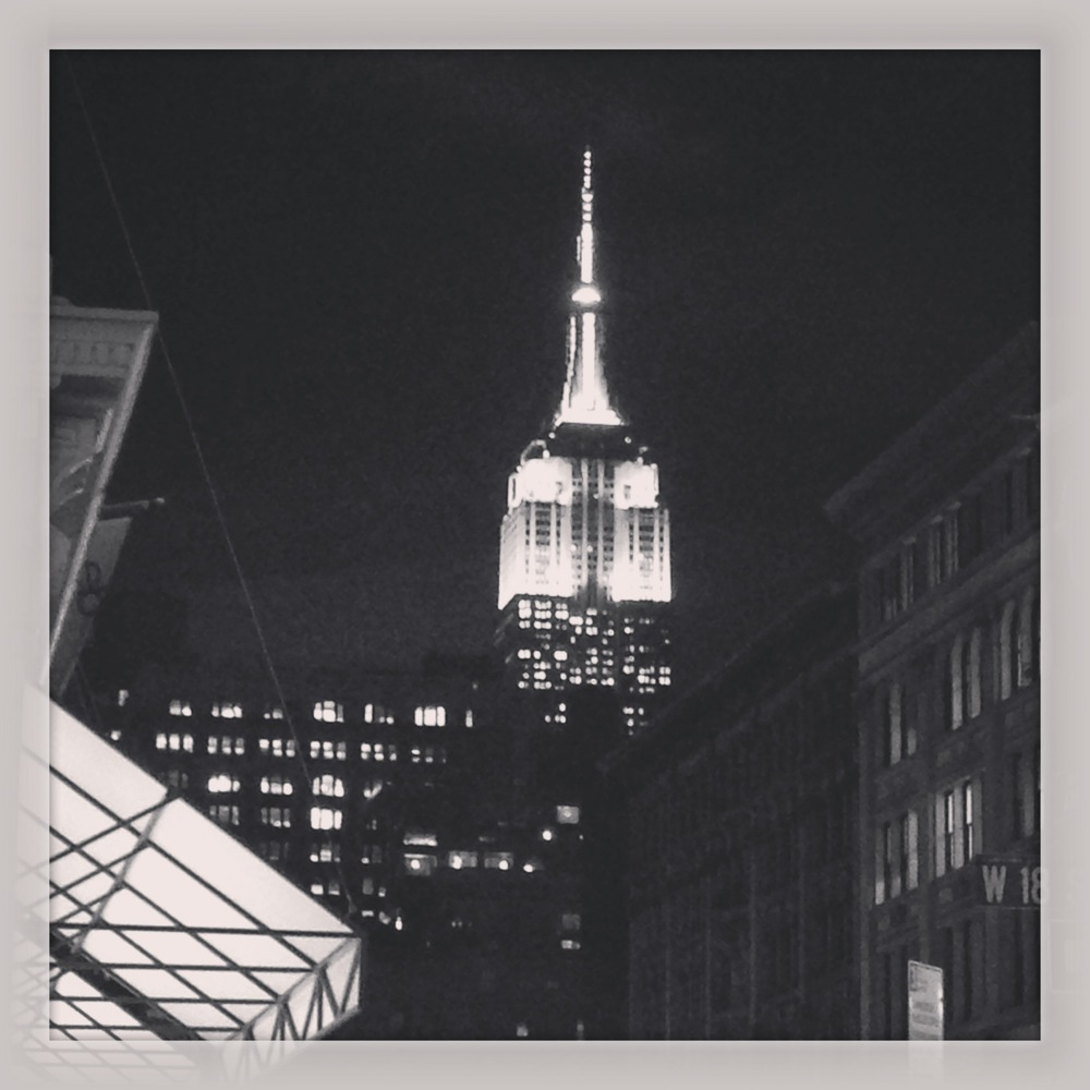 I loved seeing the Empire State building sparkle in the night.