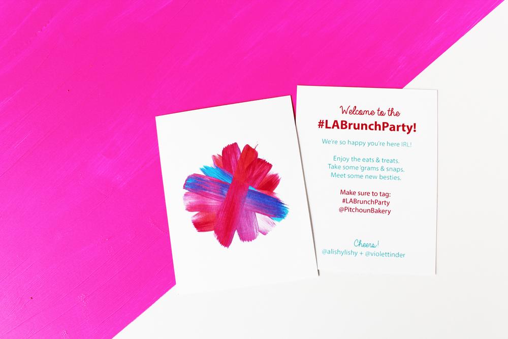 Welcome cards with original artwork by Natasha!