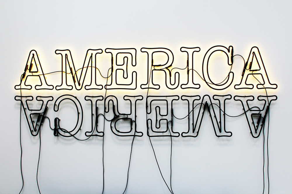 Double America Two by Glenn Ligon