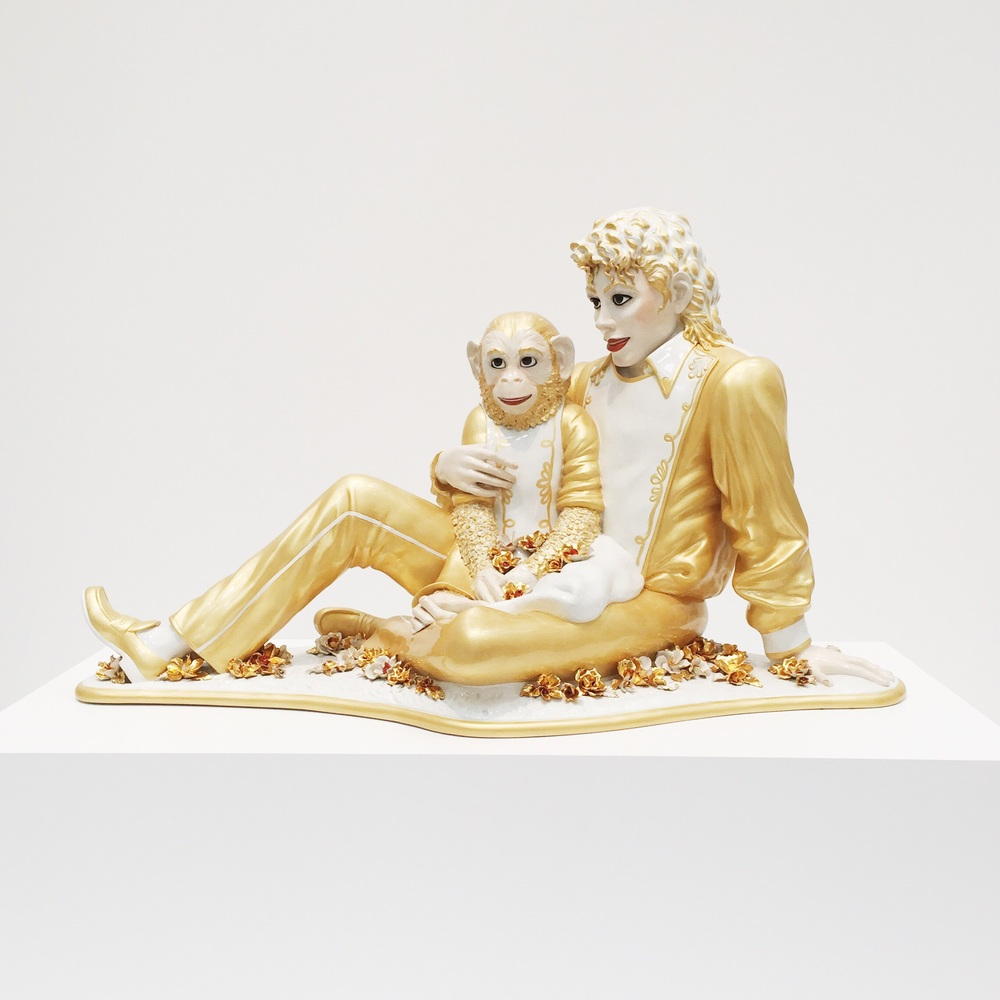 Hey Michael.  Michael Jackson and Bubbles by Jeff Koons