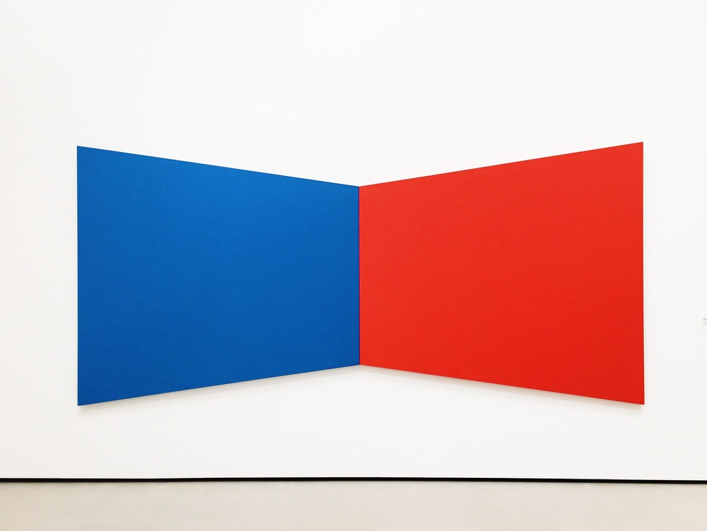 Inspiring me to be BOLD.  Blue Red by Ellsworth Kelly