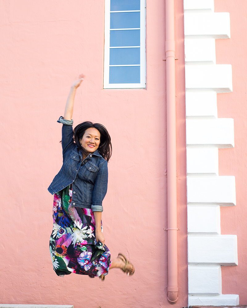 My travel partner in crime has the best hops! Floral Maxi by Luxury Gifts Bermuda