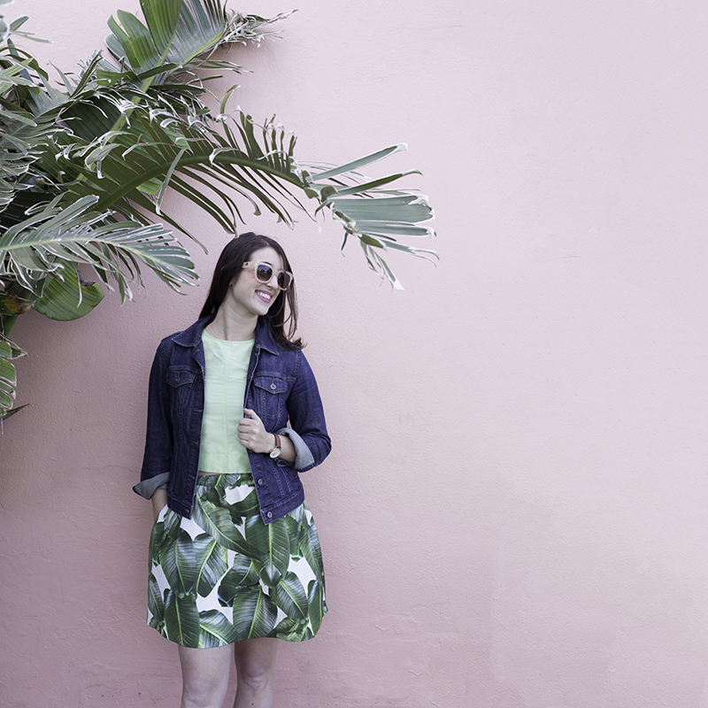 #plantsonpink with my matching skirt from Party Skirts! Photo by Amy Tangerine
