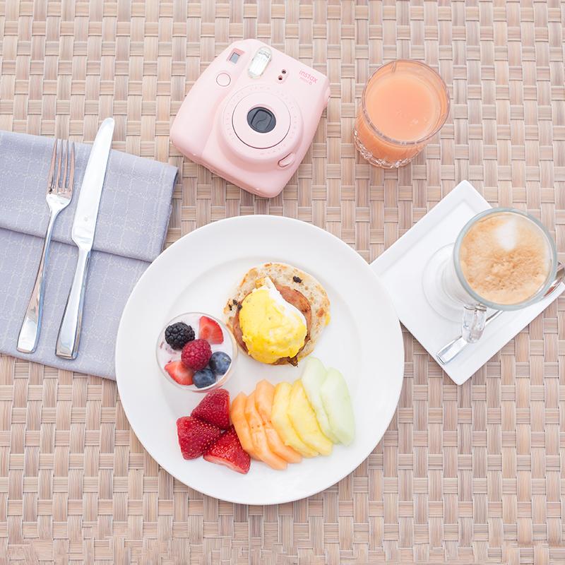 Morning breakfast spread