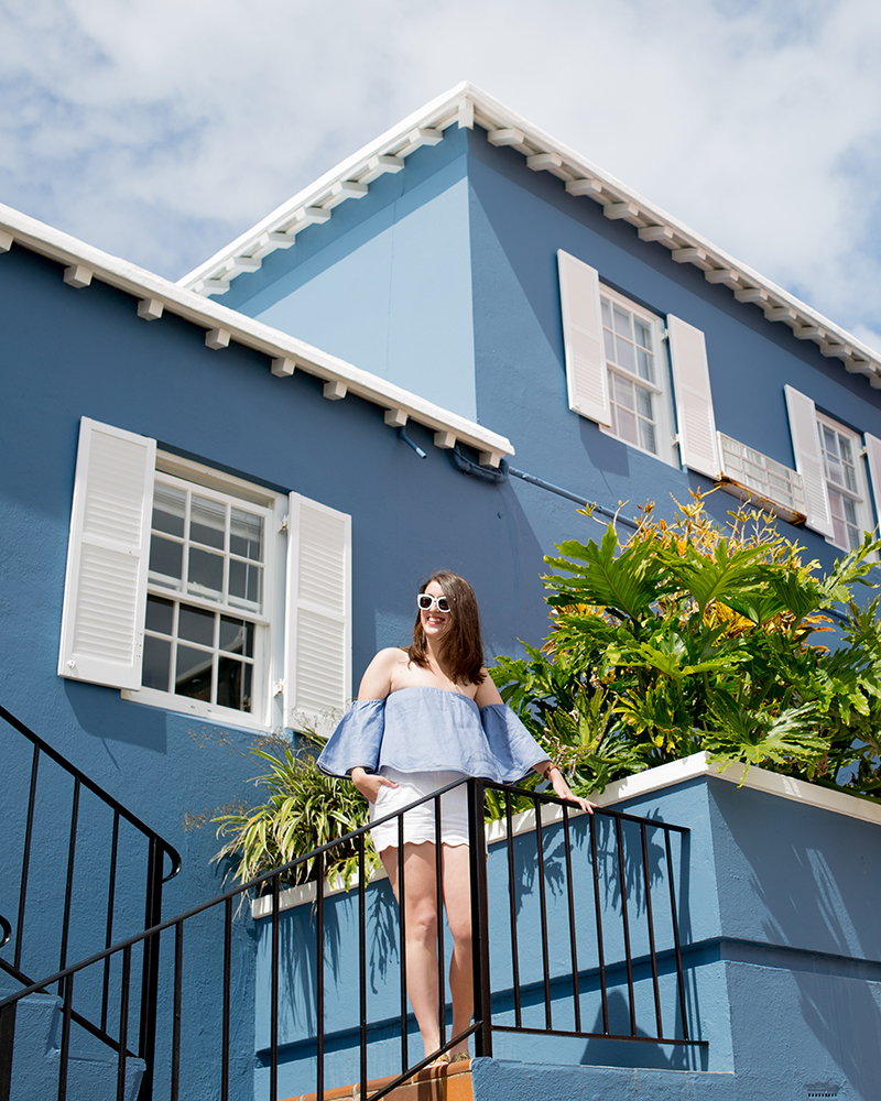 Top & sunglasses by FH Bermuda located inside of the Hamilton Princess, photo by Amy Tangerine