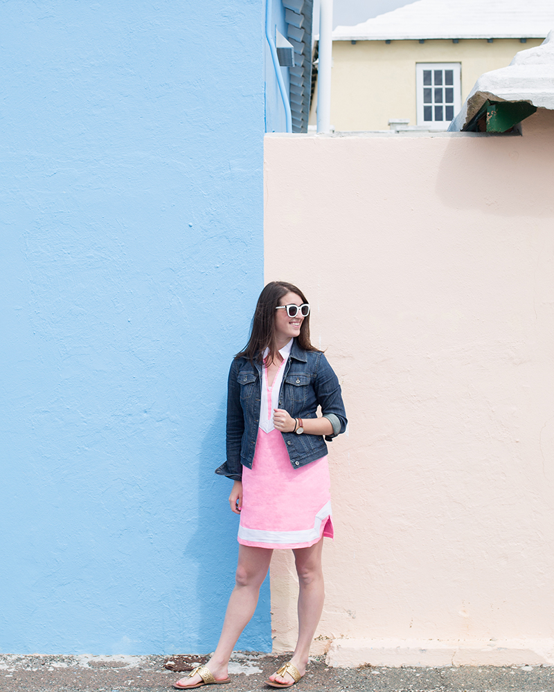 Dress by Luxury Gifts Bermuda, Sunglasses by FH Bermuda, photo by Amy Tangerine