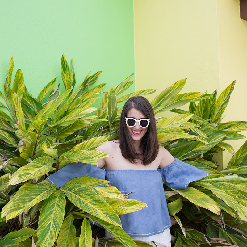 Top & Sunglasses by FH Bermuda, photo by Amy Tangerine