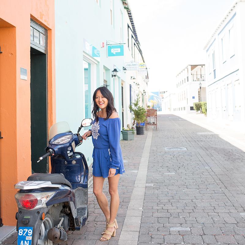 Romper by FH Bermuda, heels by Target on Amy Tangerine.