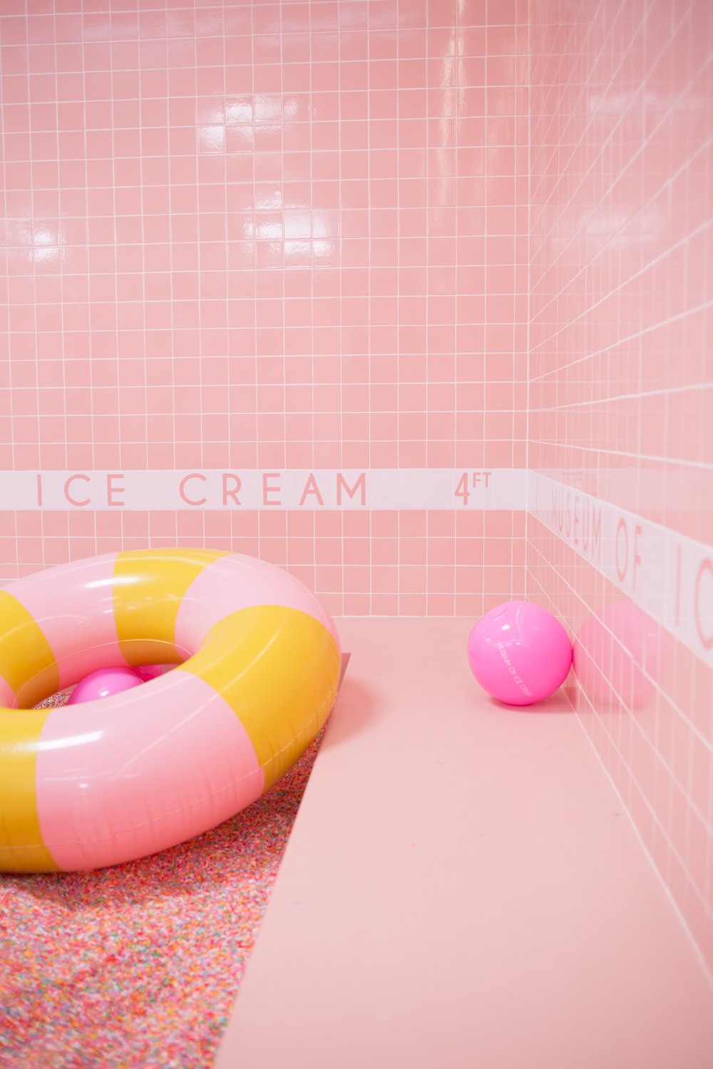 Photograph all of the pool floats & subway tile dreams