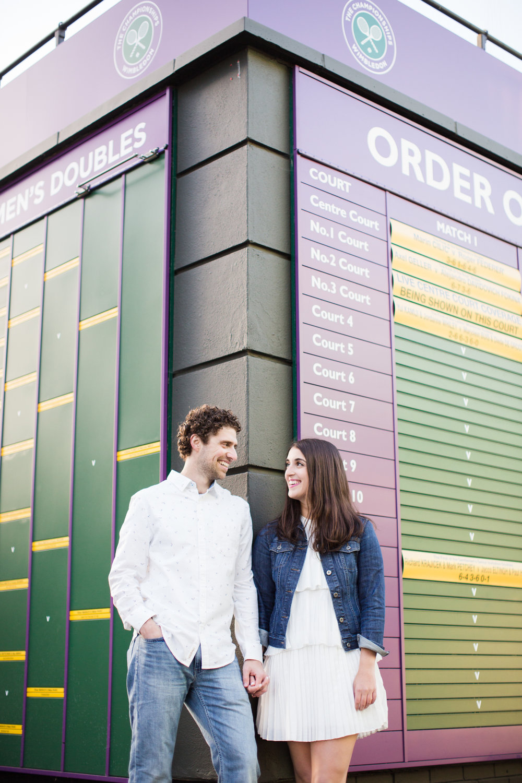 wimbledon proposal & engagement