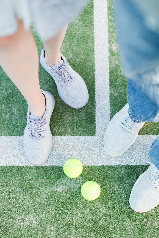 tennis proposal & engagement