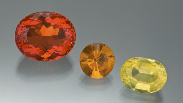 An example of fire opals color range, courtesy gia.edu