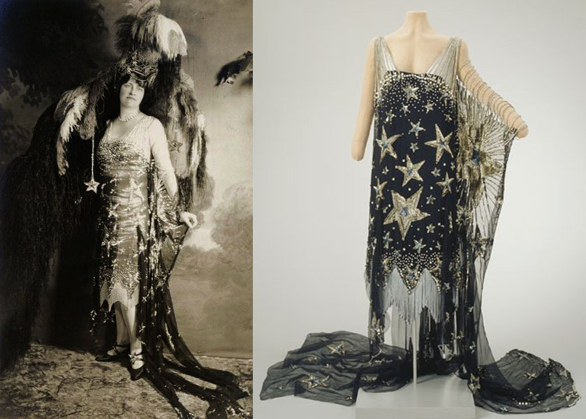 Marjorie enjoyed dressing up for portraits and photographs, and was always photographed in the creations that she had made, such as the 1926 Everglades Ball in Palm Beach, hosted at the Mar-a-lago estate, where she had a wonderful Starry Night themed gown made. The parties in Palm Beach were massive, wild affairs.