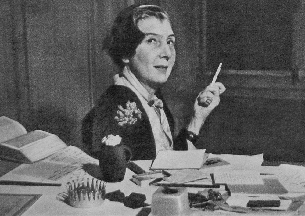 Jeanne Toussaint at her desk in the 1960's at Cartier.