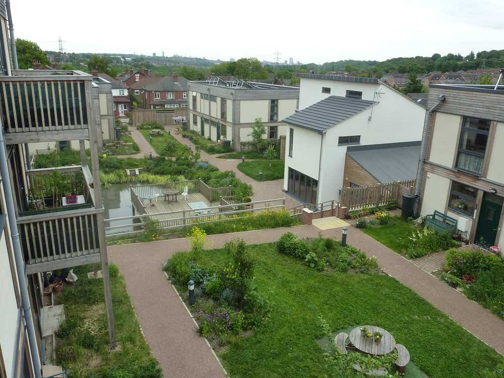 View from the third level of LILAC Housing Project