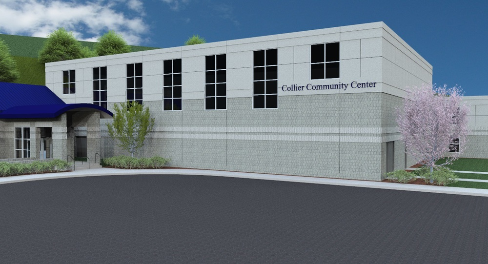 Collier Township Community Center, Collier Township, PA (rendering)