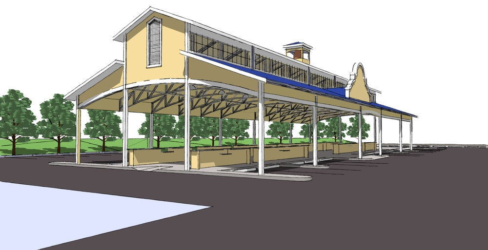 Ellwood City Farmer's Market Rendering
