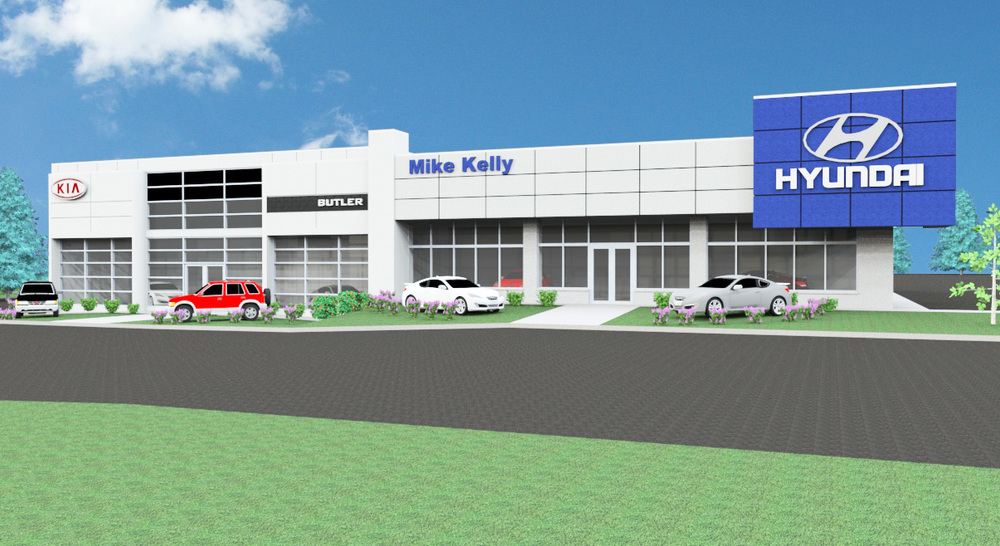 Kelly Kia and Hyundai Dealership Rendering