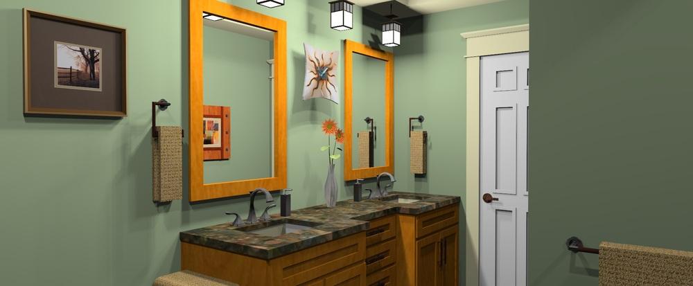 Townhouse Bathroom Rendering
