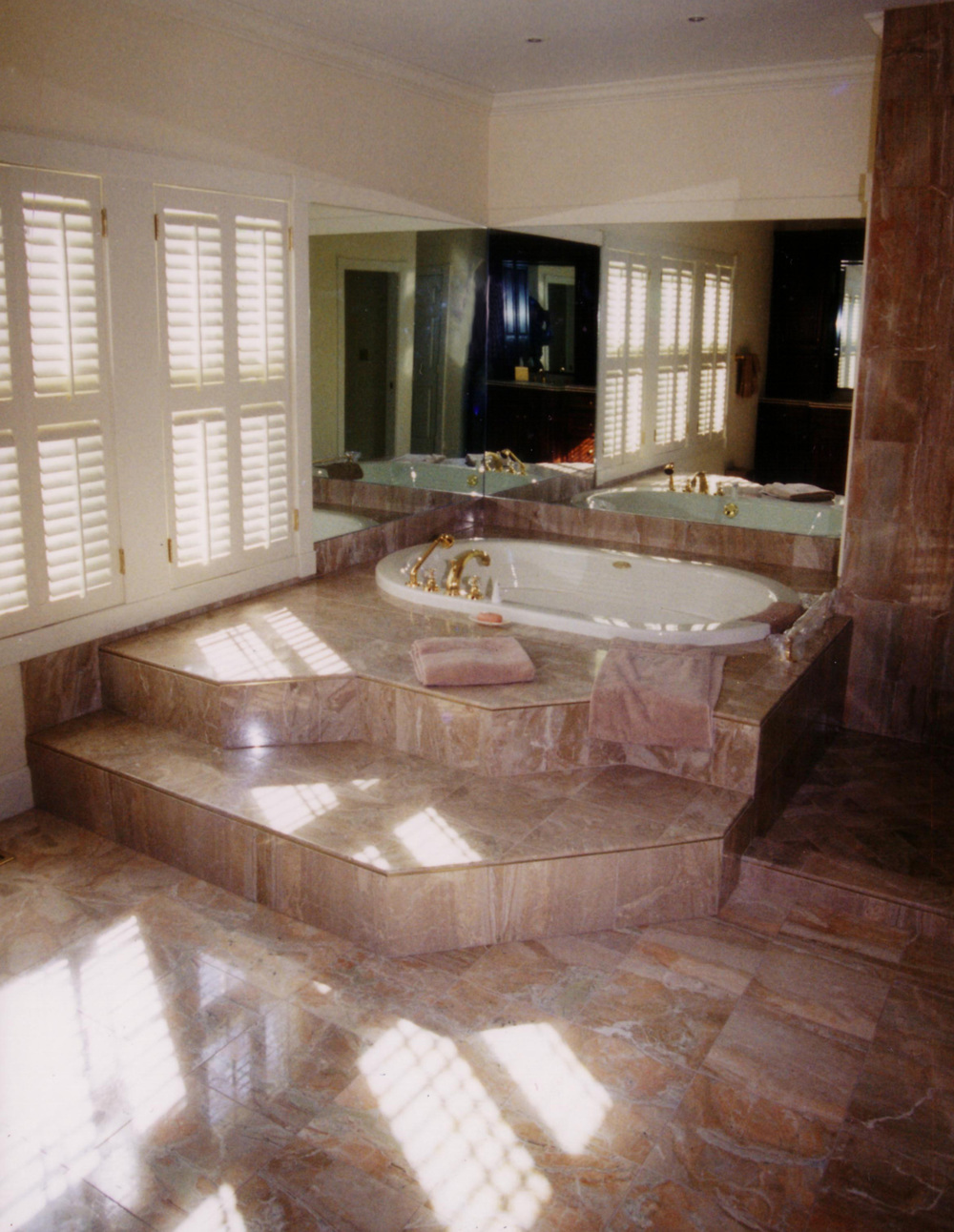Luxury tub, private residence